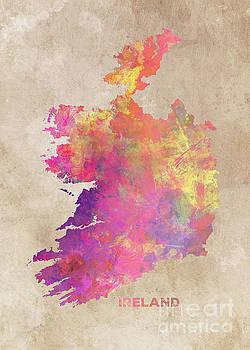 Justyna Jaszke JBJart - Ireland map