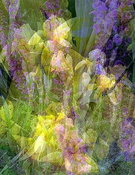 Iris and Lavender Collage by Kathy Barney