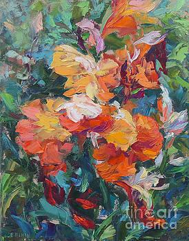Iris Blooming by Elizabeth Elkin