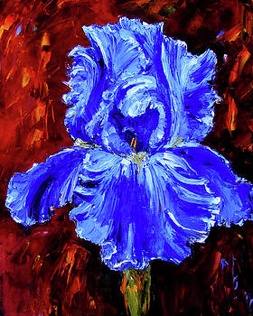 Iris Blues by Debra Hurd