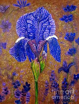 Iris Botanical Delight by Kimberlee Baxter