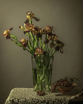 Iris Still Life by Jerri Moon Cantone