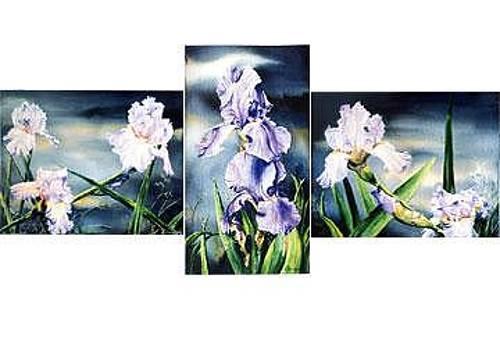 Iris Triptych by Kris Killman