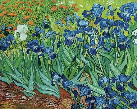 Irises 1889 by Vincent van Gogh by William Roberts