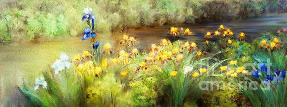 Irises Along The River by Tina LeCour