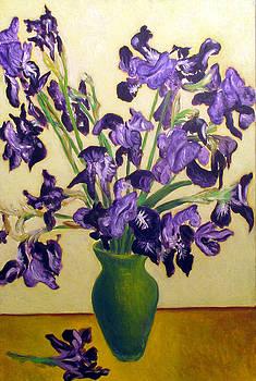 Irises by Vladimir Kezerashvili