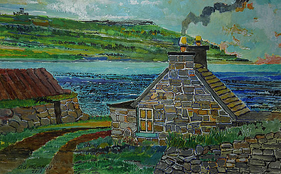 Irish Coast Stone House by Donald McGibbon