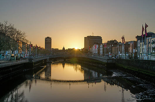 Irish Sunrise on the Liffey River by Bill Cannon