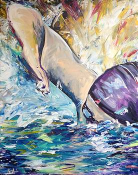 Ironman Swimmer by Kathryn Armstrong