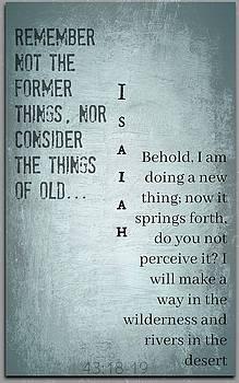 Isaiah 43 by David Norman