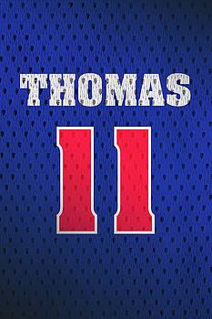 Design Turnpike - Isiah Thomas Detroit Pistons Number 11 Retro Vintage Jersey Closeup Graphic Design