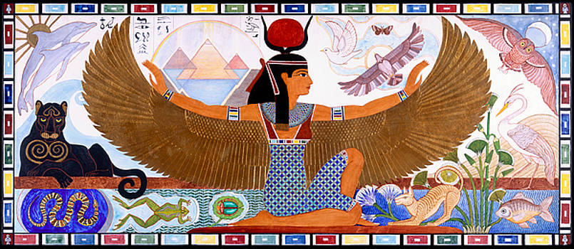 Isis Proud and Radiant Egyptian Goddess by Heidi Hanson