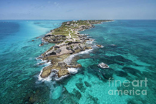 Isla Mujeres from Punta Sur, Aerial Image by David Daniel