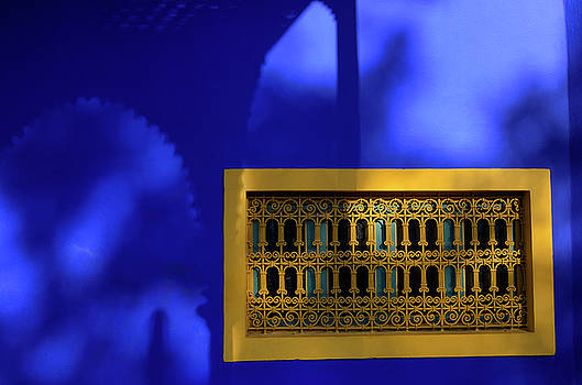 Reimar Gaertner - Islamic Art Museum of Marrakech at Majorelle Garden with yellow