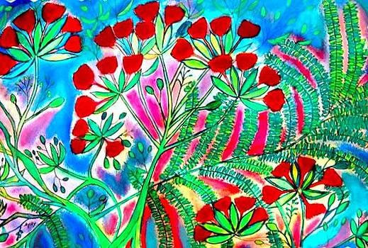 Island Flamboyants by Ted Hebbler