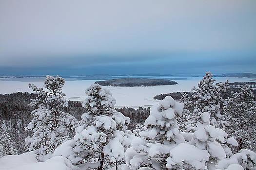 Island in a frozen sea by Ulrich Kunst And Bettina Scheidulin