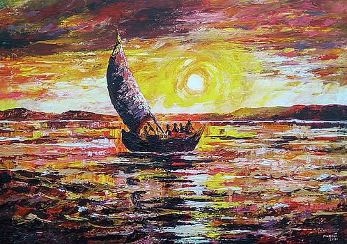 Island Sunset by Anthony Mwangi