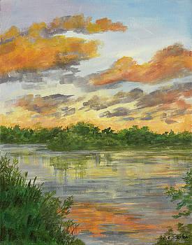 Island Sunset by E E Scanlon