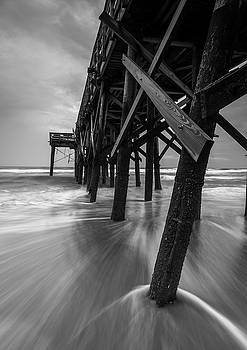 Isle of Palms Pier Water in Motion by Donnie Whitaker