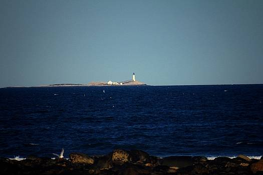 Isle of Shoals from afar by Robert Morin