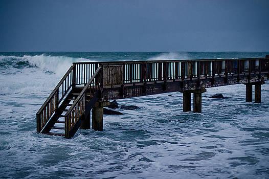 Isolated foot bridge by Alex Leonard