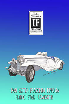 Isotta Fraschini Type 8 Flying Star Roadster by Jack Pumphrey