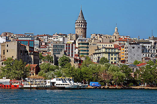 Istanbul Cityscape by Sally Weigand