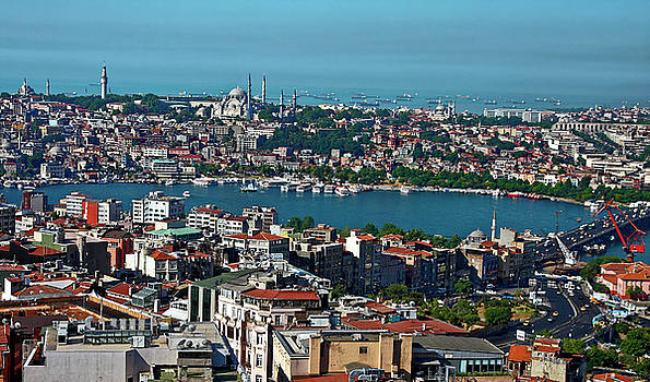 Istanbul Overview by Sally Weigand