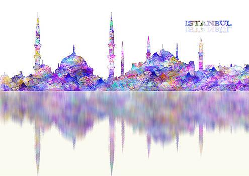 ISTANBULTurkey watercolor reflections by Georgeta Blanaru