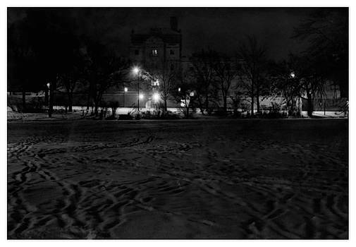ISU Campus After Dark by Kyle J West
