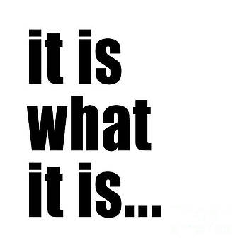 It Is What It Is On Black Text by Bruce Stanfield