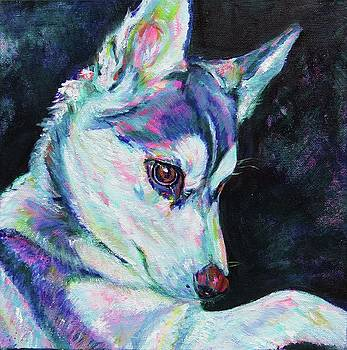 Husky puppy by Karin McCombe Jones