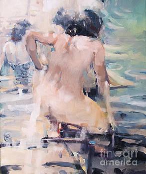 Italian Bathers 2 by Tony Belobrajdic
