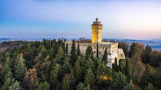 Italian castle at sunrise by Andrea Bonavita
