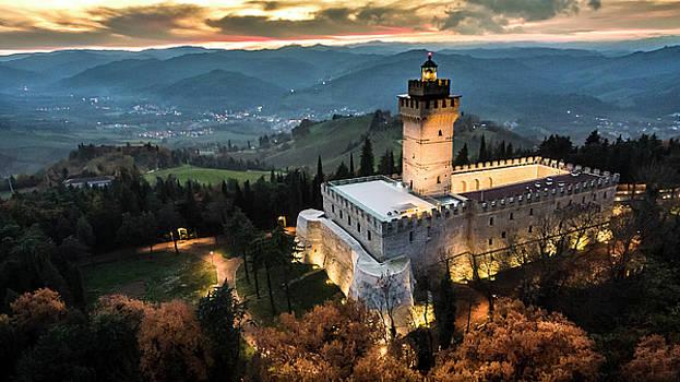 Italian castle at sunset by Andrea Bonavita