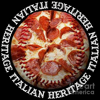 Andee Design - Italian Heritage Baseball Pizza Square