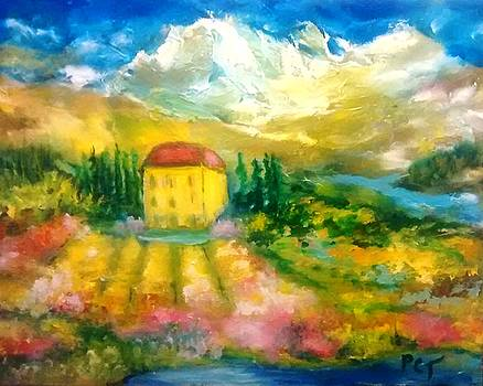 Italian Mountain Villa in Summer by Patricia Taylor
