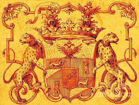 Italian Nobility 18th Century Coat of Arms with Leopards and Double Headed Eagles by Peter Ogden