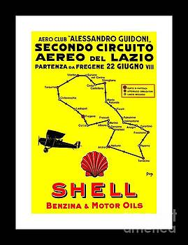 Peter Gumaer Ogden - Italian Shell Oil Aviation Poster Giuseppe Magognoli 1928 II