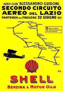 Peter Gumaer Ogden - Italian Shell Oil Aviation Poster Giuseppe Magognoli 1928