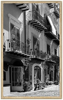 Italian Street in black and white by Stefano Senise