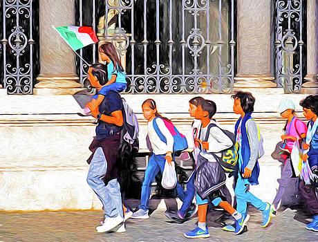 Dennis Cox - Italian Students with Teacher