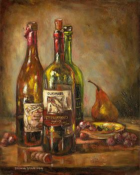Italian Wine Bottles by Brenda Brannon