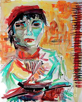 Ginette Callaway - Italian Woman After Van Gogh
