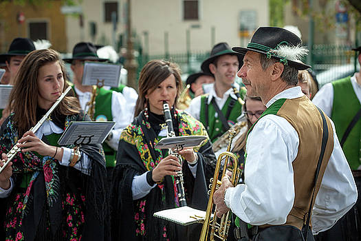 ITALY BORMIO APRIL 16 2017 Celebration of Pasquali in Bormio by Alfio Finocchiaro