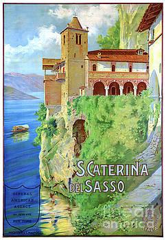 Italy Santa Caterina del Sasso Vintage Poster by Carsten Reisinger