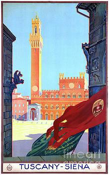 Italy Siena Vintage Travel Poster Restored by Carsten Reisinger