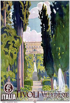 Italy Tivoli Vintage Travel Poster Restored by Carsten Reisinger