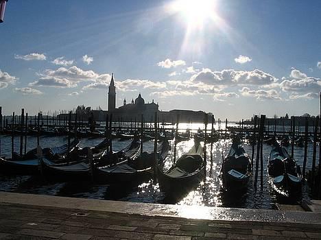 Yvonne Ayoub - Italy Venice  and gondolas in sunset