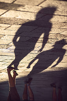Eduardo Huelin - Italy Venice Shadows of people walking down street